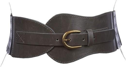حزام نسائي قابل للتمدد بعرض 7.62 سم عالي الخصر عصري