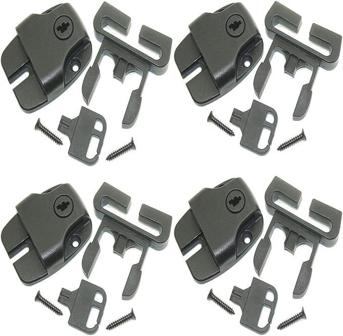 Shenzhen Huang Lu Shu Technology Co., Ltd. Juego de 4 Spa Hot Tub Cubierta Pestillo para reemplazar Broken Latch Repair Kit Clip Lock with Key and Hardware/ACW Latch Strap Repair Kit Clip Video