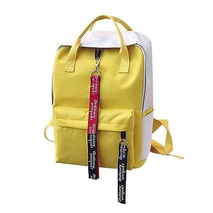 76fb68a25 Amazon.com | Leisure Zipper Bag Student Backpack Folding Bag Couple Travel Bag  Shoulder Bag | Kids' Backpacks