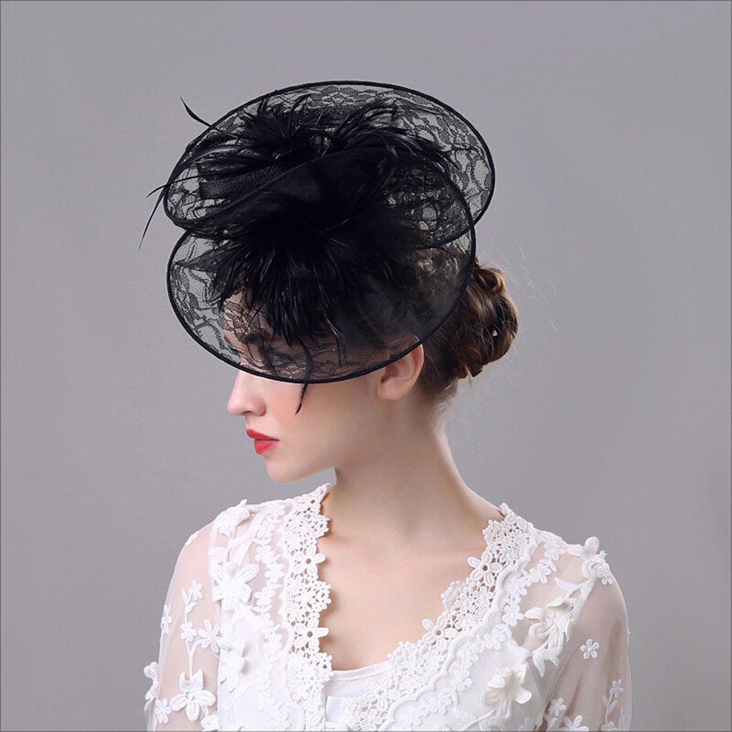 Nwn European Retro Bowler Hat Lace Headdress Wedding Photography Props Elegant Banquet Hat for Women
