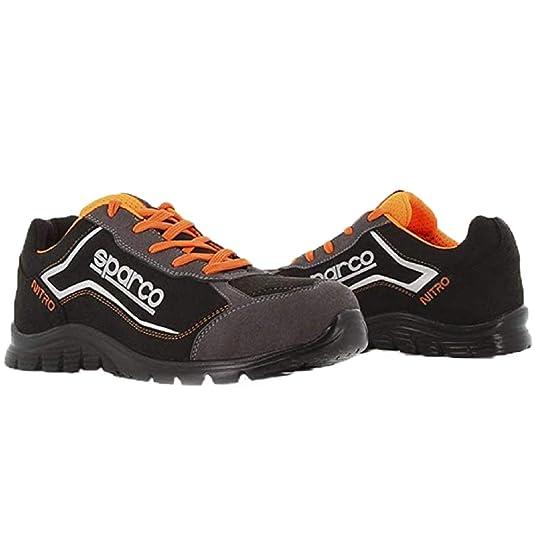 Zapato SPARCO S3 SRC Nitro RSNR Negro/Naranja