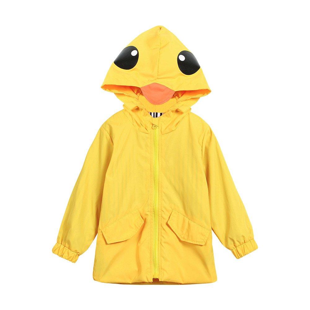 sunnymi 1-5 Jahre Kinder Regenmantel Baby M/ädchen Jungen Dinosaurier mit Kapuze Kleidungs Mantel