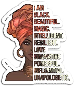 Hand Wooden Customizable Sticker I Am Black Woman History Month 2019 Stickers for Personalize (3 pcs/Pack)