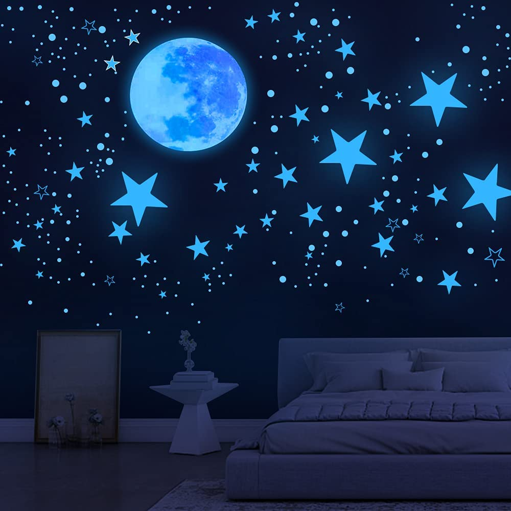 Glow in The Dark Stars for Ceiling,1078 Pcs,Star Decorations for Bedroom,Kids Boys Girls Room Decor,Cool Things for Your Room,Wall Stickers for Bedroom,Play Room,Living Room,Wall Decorations,Baby Room Decor,Best Birthday Gift