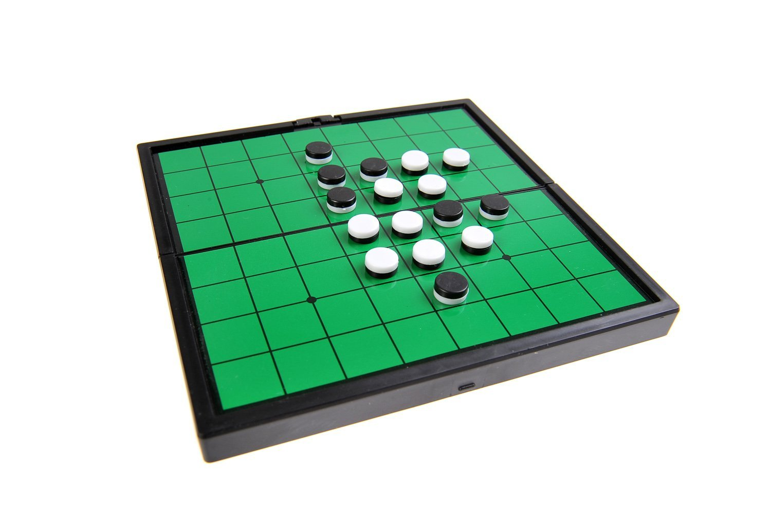 Quantum Abacus Magnetic Board Game (Super Mini Travel Size): Reversi - Magnetic Game Pieces, Foldable Board, 5.04 x 5.04 x 0.39 inches, Mod. SC3654 (DE) The Khan Outdoor & Lifestyle Company