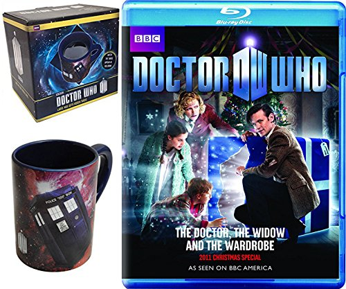 Doctor Who: The Doctor Christmas Special The Widow and the Wardrobe + Doctor Who Hidden Police Box TARDIS Coffee Mug