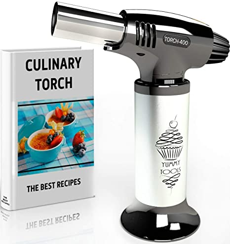 Best Culinary Torch Chef Torch For Cooking Creme Brulee Hand Butane Kitchen Torch Blow Torch With Adjustable Flame Safety Lock Cooking Torch