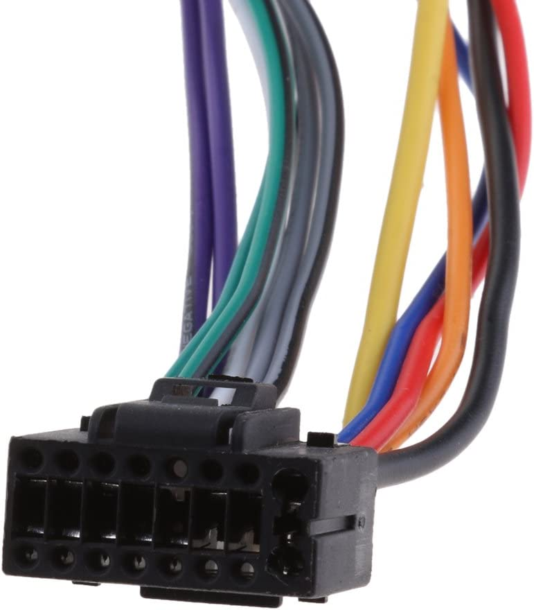 gazechimp Nuevo Adaptador De Sonido Para La Radio Del Coche Cable De Conexi/ón 16 Pin ISO Socket Para Kenwood//JVC