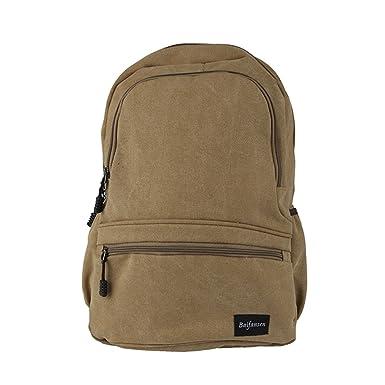 Unisex Fashionable Canvas Zip Bohemia Boho Style Backpack School College Laptop Bag for Teens Girls Boys Students Khaki