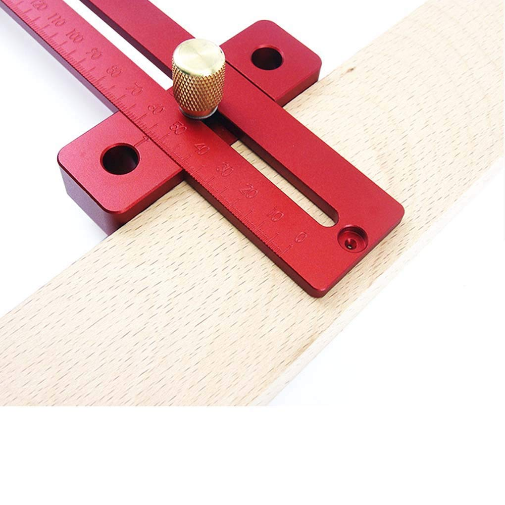 Lorsoul 200mm Durable Portable Adjustable Combination Square Aluminum Alloy Woodworking Ruler Measuring Tools