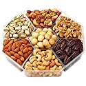 Hula Delights Deluxe Roasted Nuts Gift Basket, 7-Section by Hula Delights