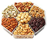 Holiday Gift Basket Deluxe Roasted Nuts , 7-Section - Hula Delights