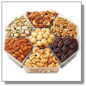 Holiday Nuts Gift Basket - Gourmet Food Gifts Prime Delivery - Christmas, Mothers & Fathers Day Fruit Nut Gift Box, Assortment Tray - Birthday, Sympathy, Get Well, Woman & Families- Hula Delights