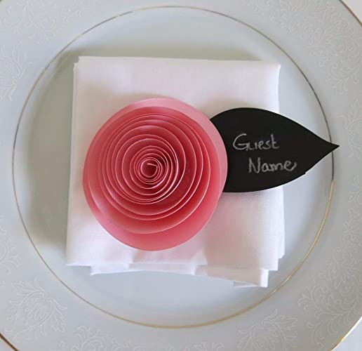 Amazon 6 Pink Buttercup Place Cards 3 Ranunculus Handmade