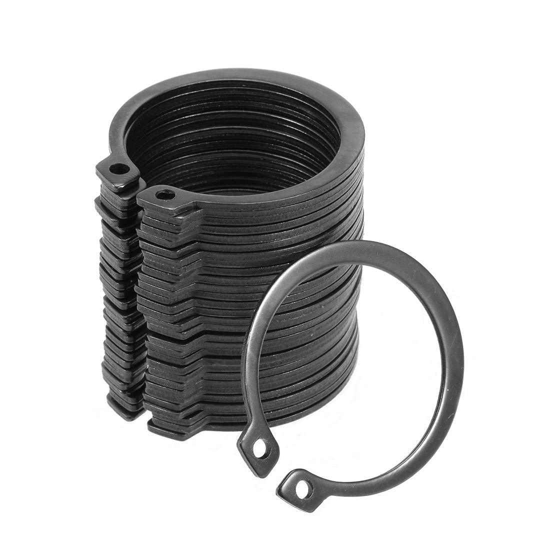 uxcell 38mm External Circlips C-Clip Retaining Shaft Snap Rings 50Mn 30pcs