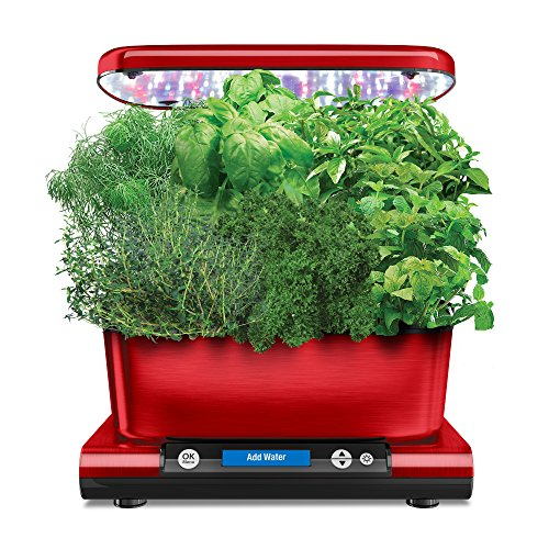 AeroGarden Harvest Elite (Classic) with Gourmet Herb Seed Pod Kit, Red
