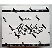 $109 » 2020 Panini Absolute NFL Football MASSIVE Factory Sealed Retail Cello Fat Pack Box 12…