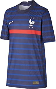 Nike 2020-2021 France Home Vapor Football Soccer T-Shirt Jersey (Kids)