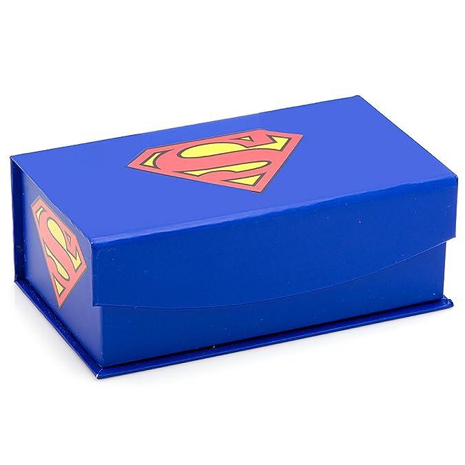 Superman negro satinado Gemelos y corbata bar set de regalo ...