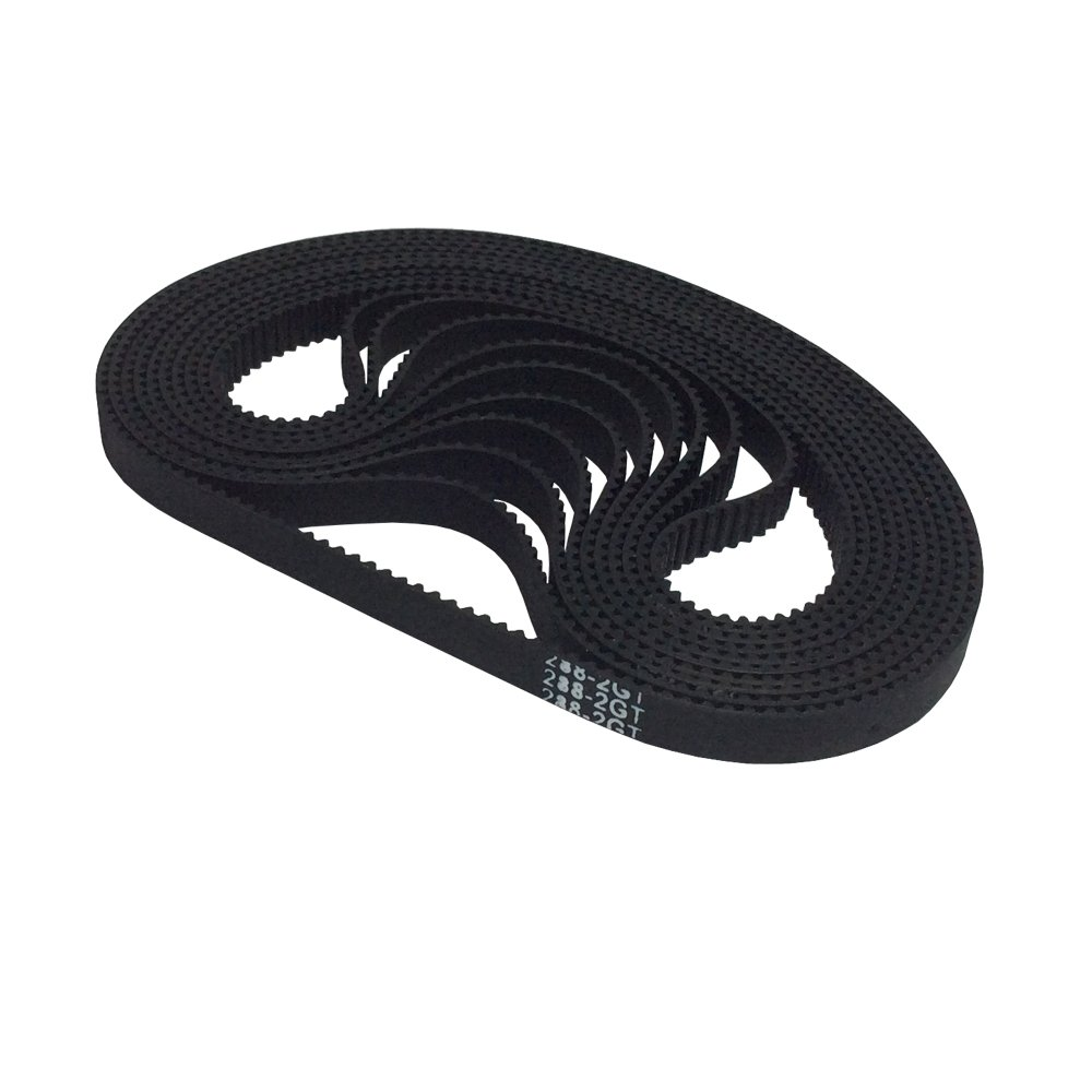 BEMONOC 3D Printer Parts 288-2GT-6 Timing Belt in Closed Loop Color Black GT2 L=288mm W=6mm 144 Teeth Pack of 10pcs by 2GT Timing Belt Closed Loop (Image #1)