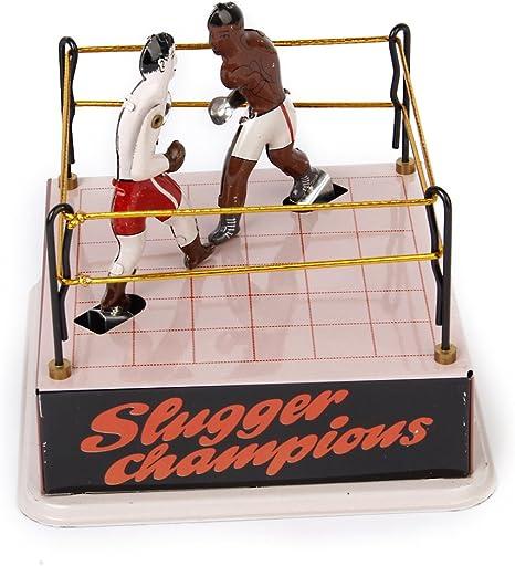 Sharplace Anillo de Boxeo Clásico con 2 Boxers para Colección ...