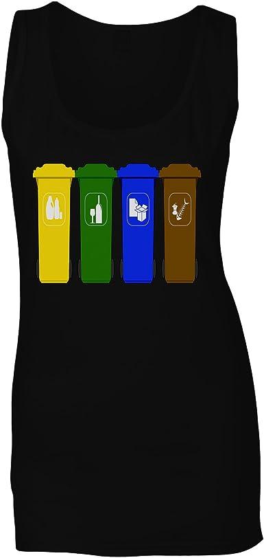 Reciclar La Basura De Los Cubos De Basura Camiseta sin Mangas ...