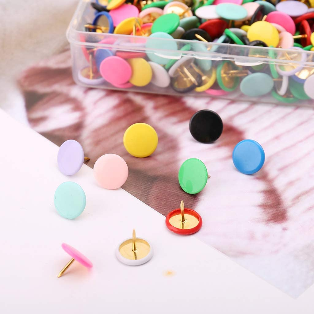 Zkm 300pcs puntine da disegno per ufficio a casa puntina da disegno bacheca di sughero puntina da disegno foto muro marcatori mappa colore misto
