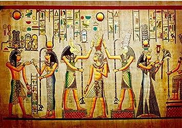 Hhcyy 3d Papel Pintado Antiguo Egipto Faraon Foto Retro Arte Mural