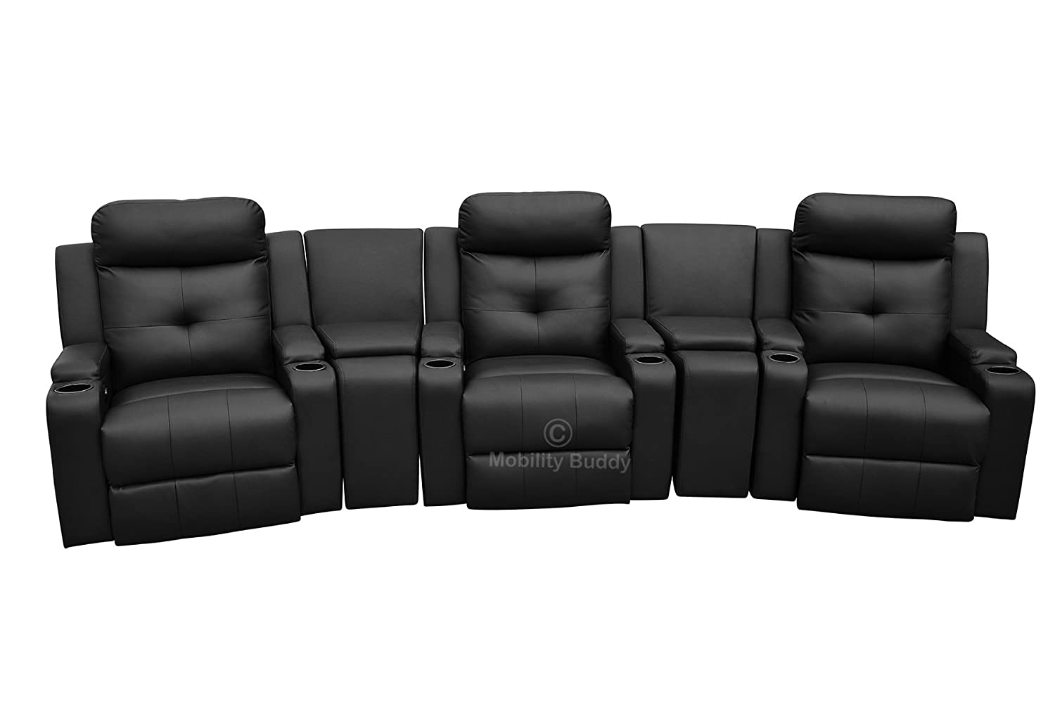 Surprising Mobility Buddy Odeon Black Bonded Leather Electrically Evergreenethics Interior Chair Design Evergreenethicsorg