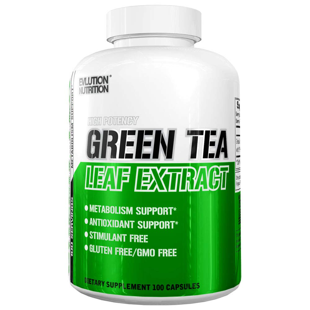 Evlution Nutrition Green Tea Leaf Extract Supplement with EGCG for Metabolism and Antioxidant Support* Stimulant Free, Gluten Free, 100 Servings by Evlution