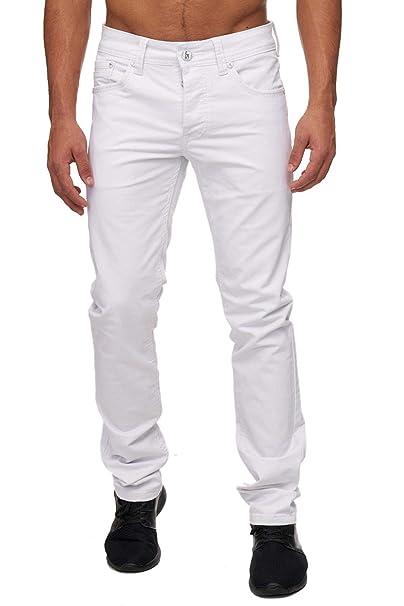 Pantalones vaqueros chinos Denim Jeans H1690, Farben:Blanco ...