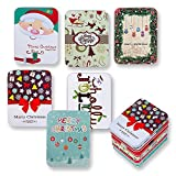 Arts & Crafts : 6 Pack Christmas Holiday Gift Card Tin Holders Box Set by Gift Boutique