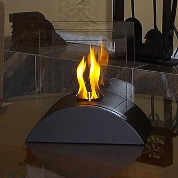 Amazon.com: Nu-Flame Estro mesa Chimenea, Moderno, Negro: Nu ...