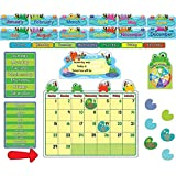 Carson Dellosa CD-110205BN Funky Frogs Calendar BB Set, MultiPk 2 Sets