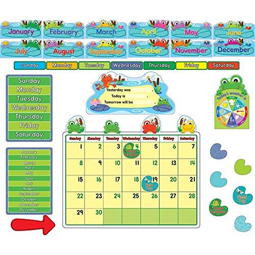 Carson Dellosa CD-110205BN Funky Frogs Calendar BB Set, MultiPk 2 Sets
