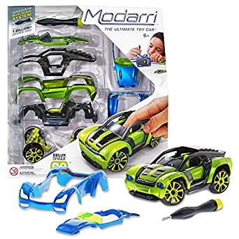Modarri Delux S2 Muscle Car Build Your Car Kit Toy Set - Ultimate Toy Car: Make Your Own Car Toy - For Thousands of Designs - Real Steering and Suspension - Educational Take Apart Toy Vehicle