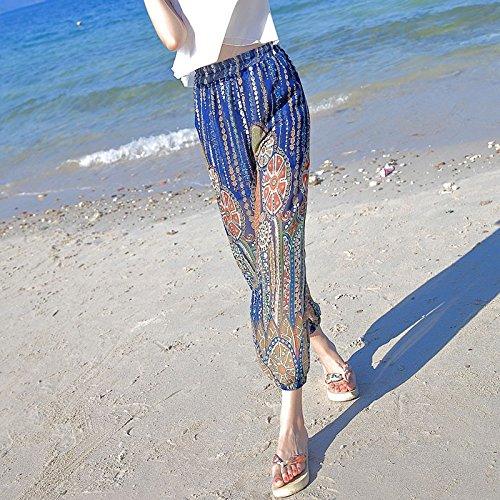OME&QIUMEI Badeort Laterne Hose Breite Beine Shorts Beach Pants Und Sommer Reisen Hosen Für Frauen Clols