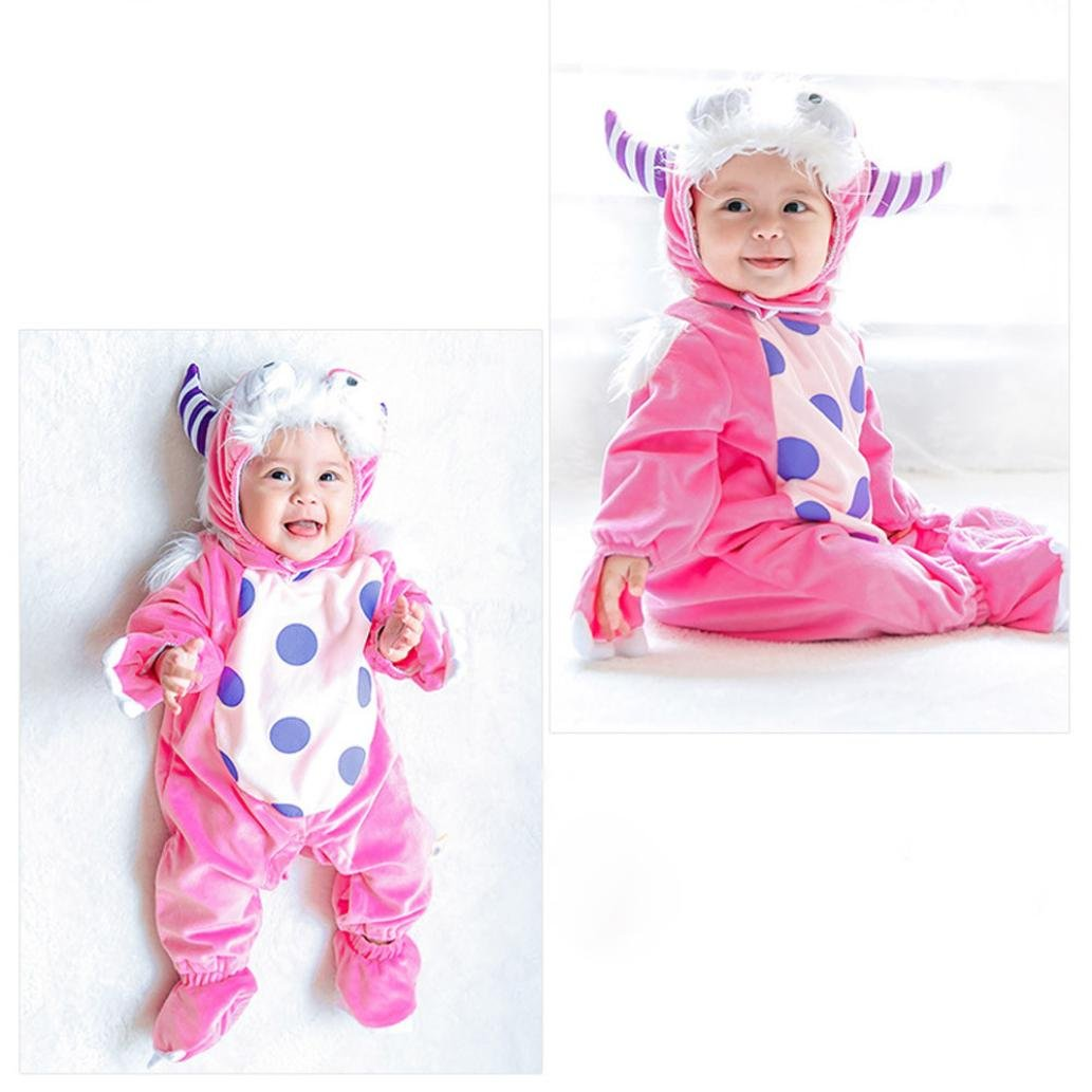 TRENDINAO Baby Toddler Infant Clothes Halloween Animal Wizard Bodysuit Footies Playsuit Romper+Hat+Shoes Clothes Outfit Set