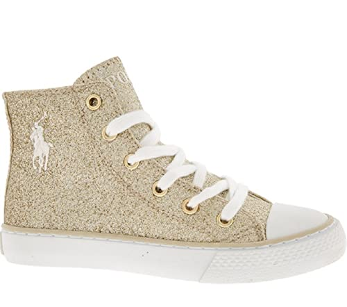 Eur 5 Gold Lauren Glitter Sneakers Ralph Marson High Polo Uk 11 Top mNn08OvPyw