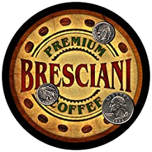 Bresciani Family Coffee Rubber Drink Coasters - Set of 4