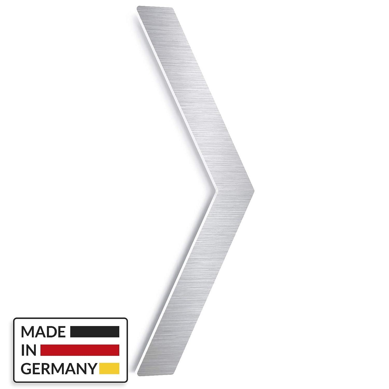 Made in Germany INOXSIGN Universal-Pfeil f/ür Hinweisschild P.01.E Erg/änzung WC- und Toilettenschildern werkzeuglose Montage Selbstklebendes Edelstahl T/ür-Schild