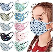Face_Masks for Kids 10PC,Face Bandana Protection Guards,Childrens Face Coverings Outdoor Back to School