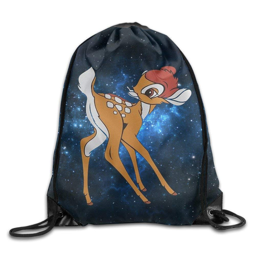 Bambi Design Unisex Gym Drawstring Shoulder Bag Backpack Travel Bag Bags Backpack String Bags School Rucksack Gym Handbag Usicapwear