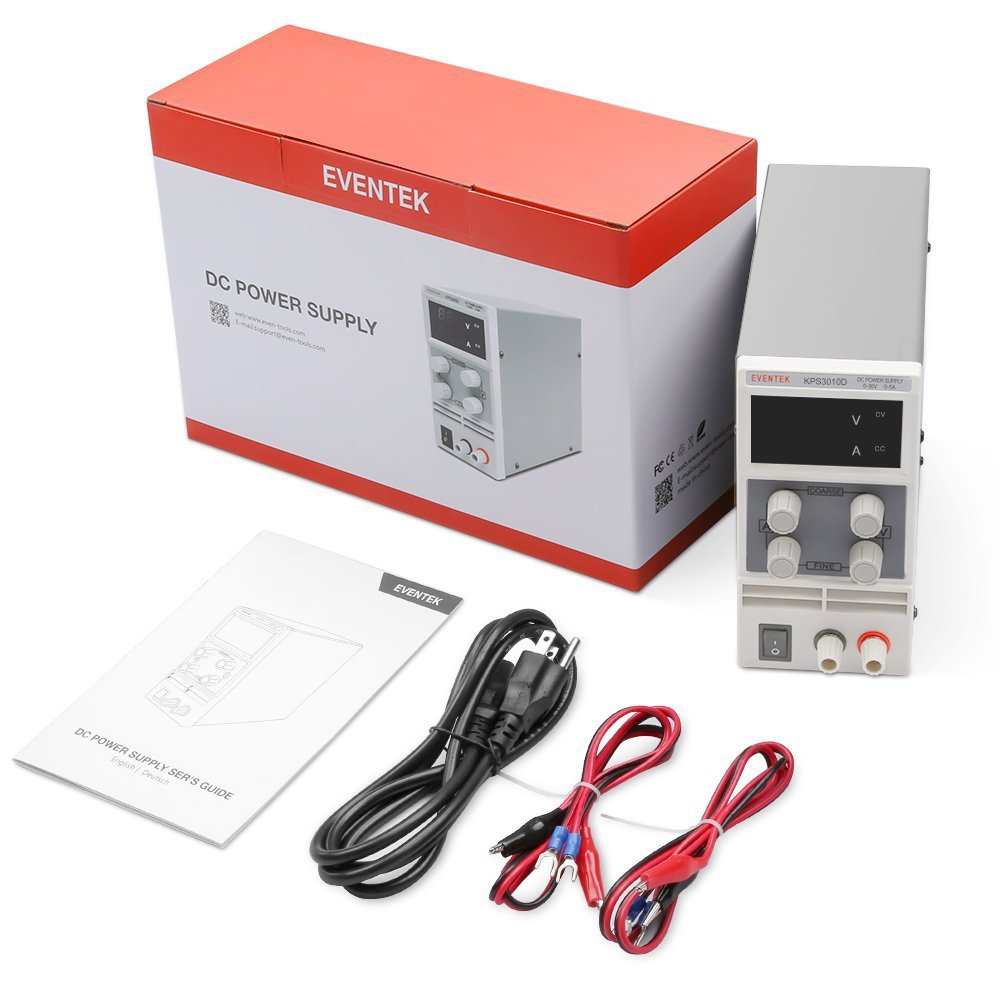 Dc Power Supply Adjustable 0 30 V 10 A Eventek Kps3010d Variable Circuit Together With Switching Regulated Digital Alligator Leads Us Cord