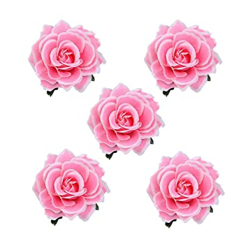 01400c1f53c93 Amazon.com   5pcs Pack Hair Flowers for Women Girls
