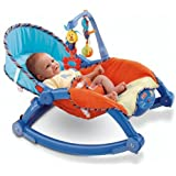 Webby Newborn To Toddler Portable Rocker, Multi Color