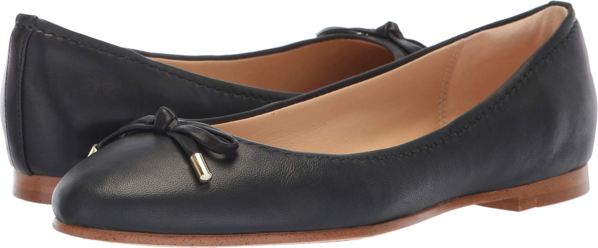 CLARKS Womens Grace Lily Ballet Flat, Black Leather, Size 7.5