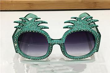 QQB des lunettes Ananas Lunettes de soleil De Luxe Strass Lunettes de Soleil Personnalité Plage Lunettes-X666 (Couleur : #2) O2iiC8JXX