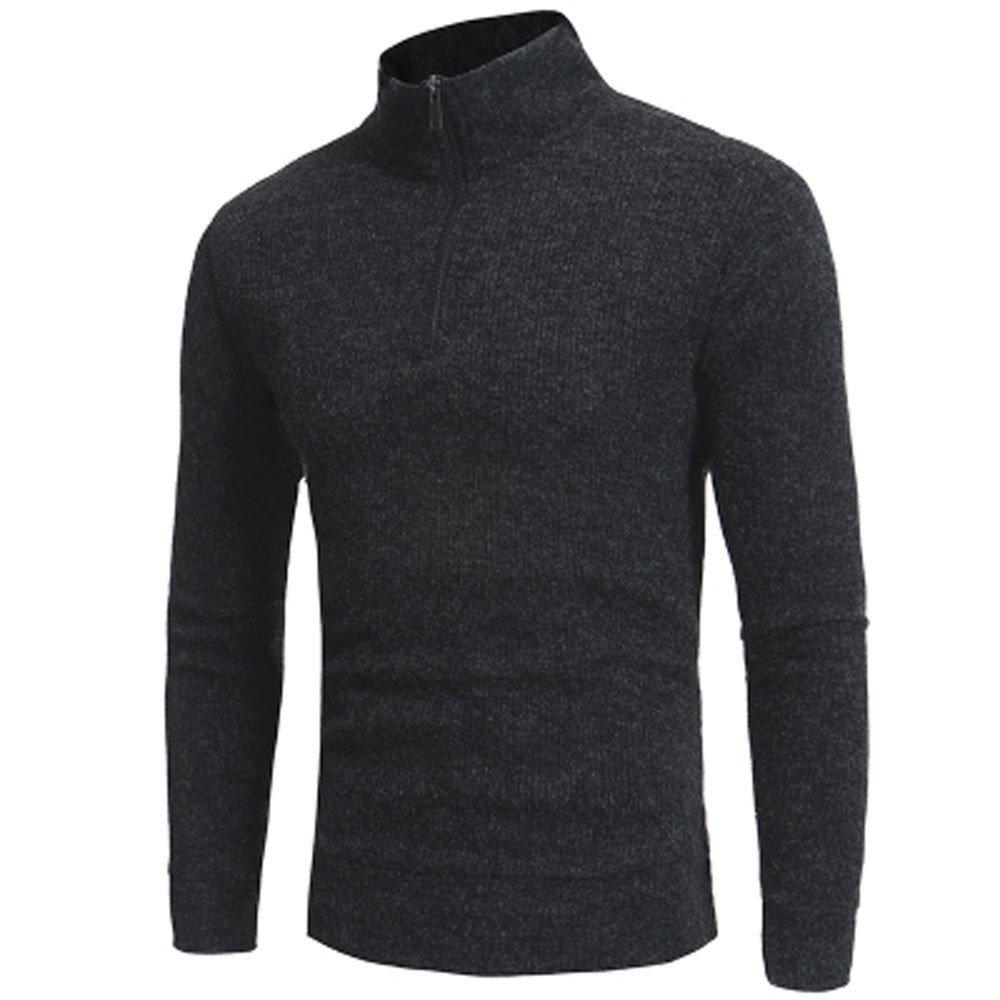 Langmotai Pullover Pullover Winter& 039;s Top Boy Boy Warme Pullover Aus Baumwolle, Für Männer Men& 039;s Fashion Zipper Casual Hoher Kragen Männer Pullover