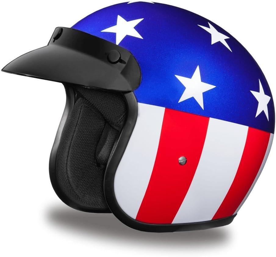 Daytona Helmets Motorcycle Open Face 3/4 Helmet